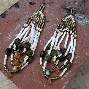 Beaded native american earrings